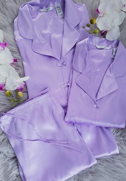 delicates Other - Delicates 3 Piece Lounge Sleep Wear Silk Pajamas
